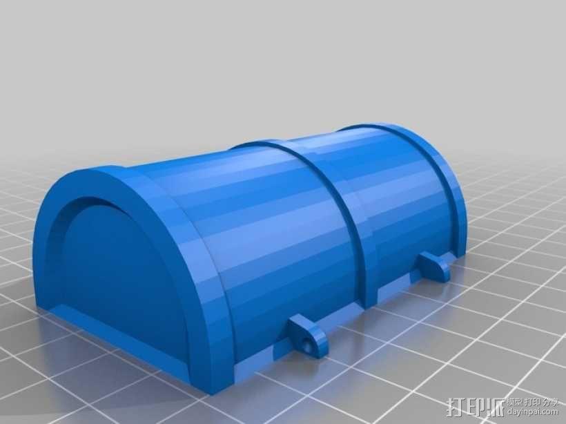 迷你铰链式藏宝箱 3D模型  图4