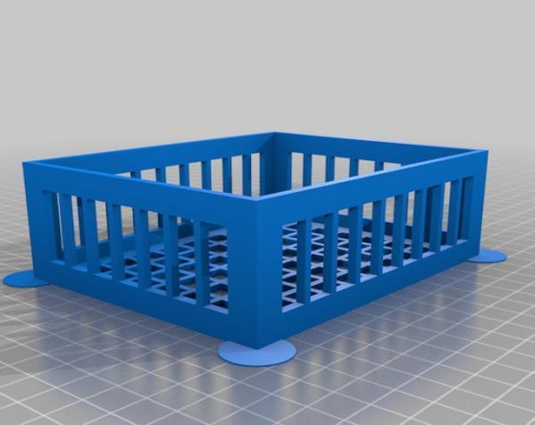 参数化镂空容器/盒子 3D模型  图1