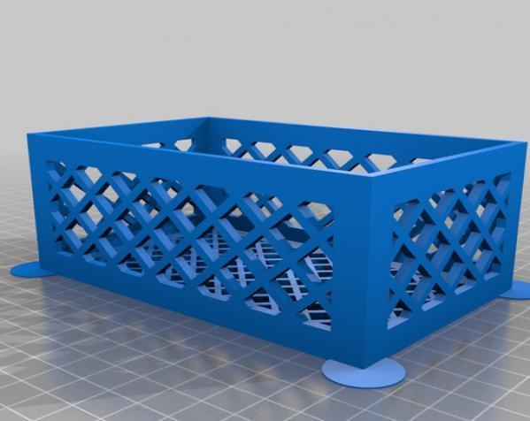 参数化镂空容器/盒子 3D模型  图2