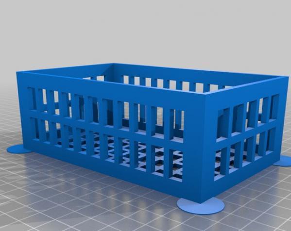 参数化镂空容器/盒子 3D模型  图3