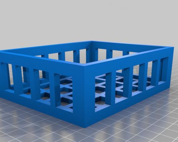 参数化镂空容器/盒子 3D模型  图4