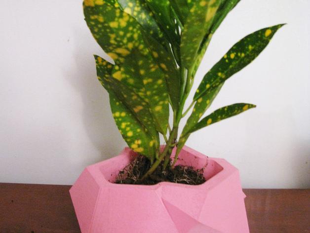 水晶形花盆 3D模型  图1