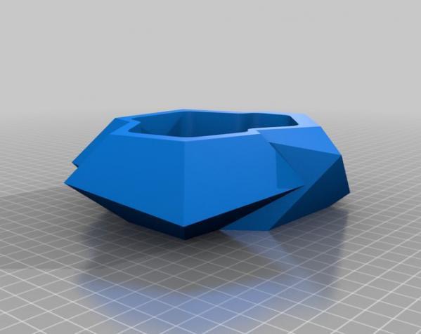 水晶形花盆 3D模型  图3