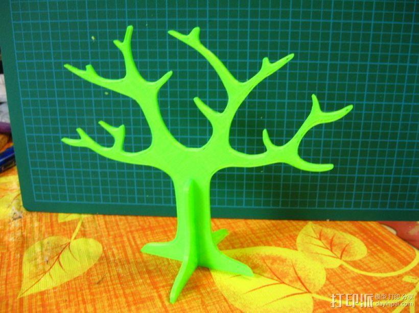 树形首饰架 3D模型  图2