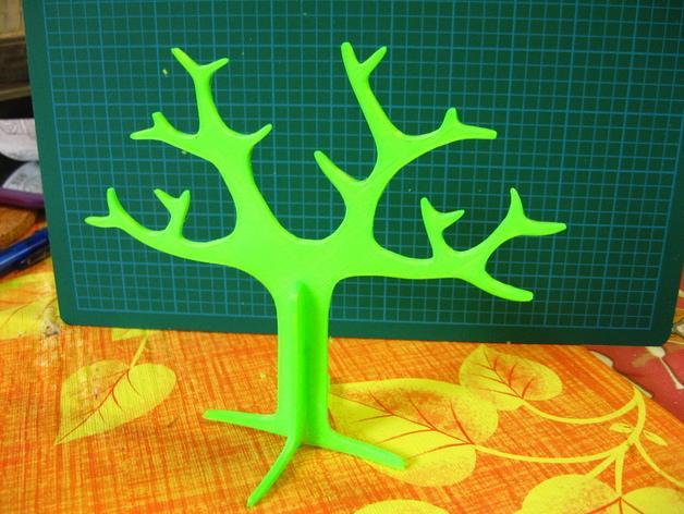 树形首饰架 3D模型  图3