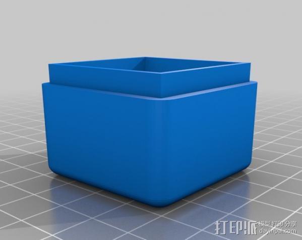 迷你方形小盒 3D模型  图4