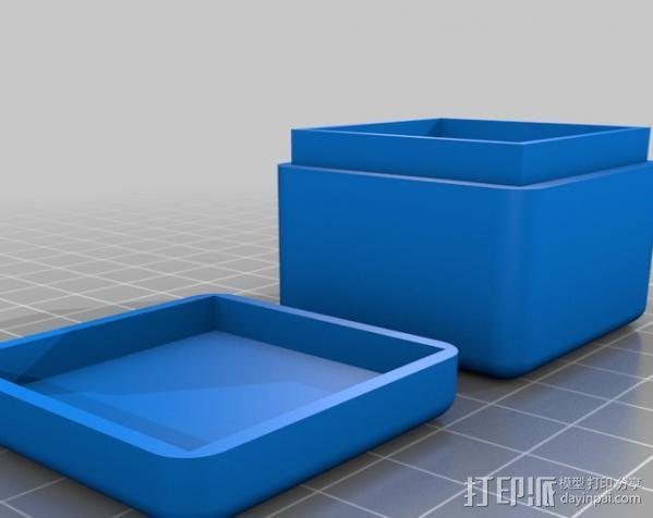 迷你方形小盒 3D模型  图5