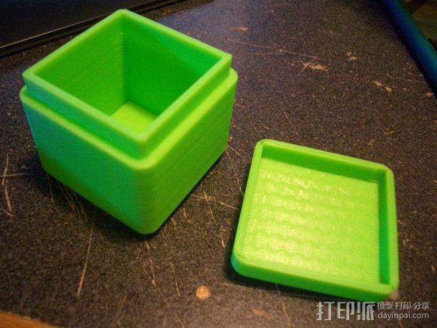 迷你方形小盒 3D模型  图8