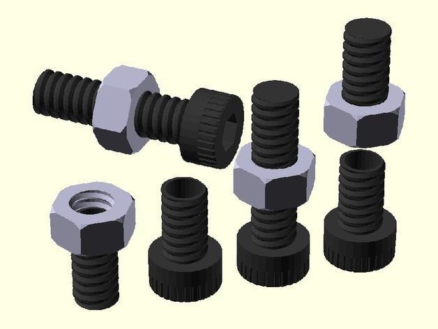 螺丝形文具盒 3D模型  图1