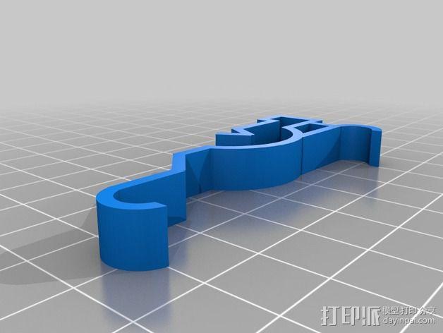 窗帘帷幔夹 3D模型  图2
