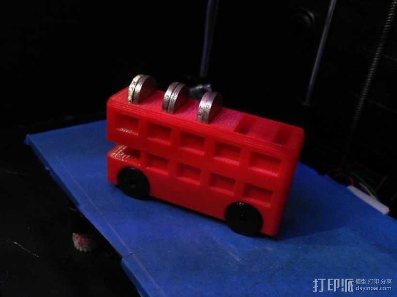 巴士形硬币盒 3D模型  图1
