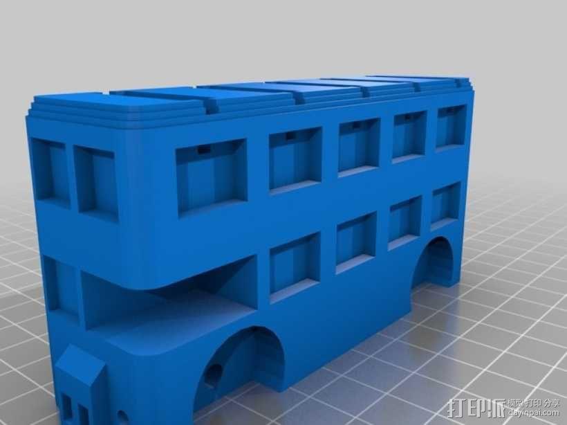 巴士形硬币盒 3D模型  图2