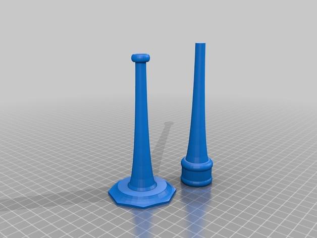 长笛形烛台 3D模型  图2