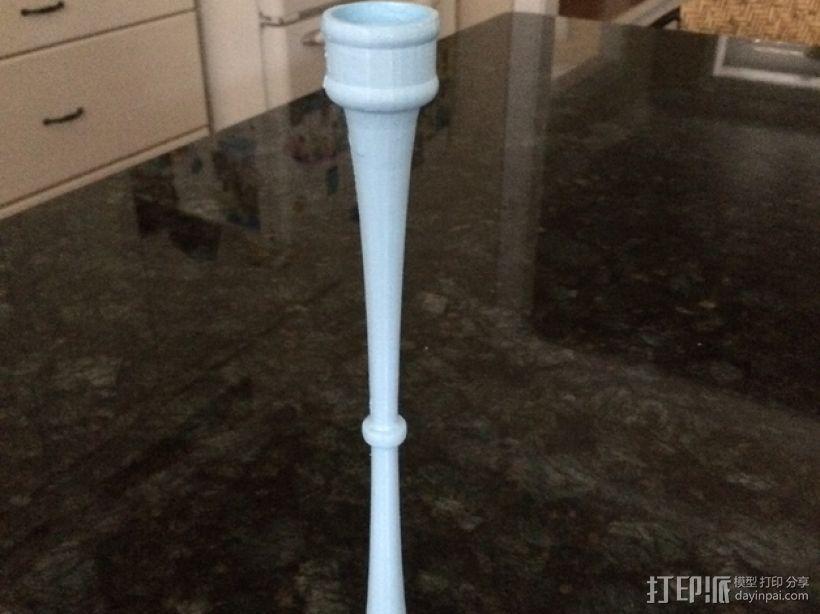 长笛形烛台 3D模型  图1