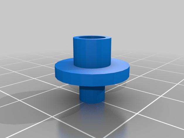 自行车打气筒零部件 3D模型  图2