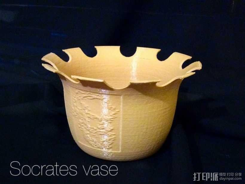 """""""苏格拉底""""花瓶 3D模型  图1"""
