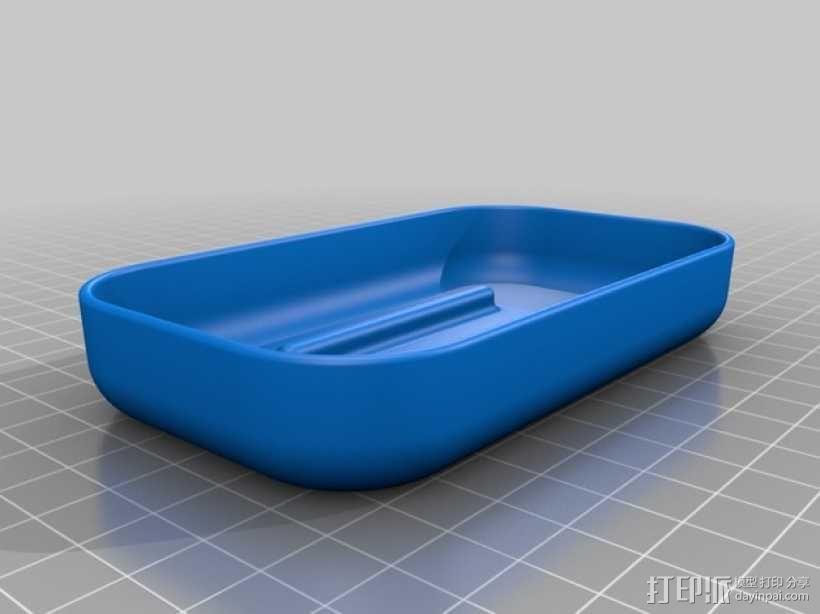 易清洗的肥皂盒 3D模型  图2