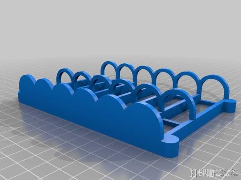 白板笔磁力托架 3D模型  图3