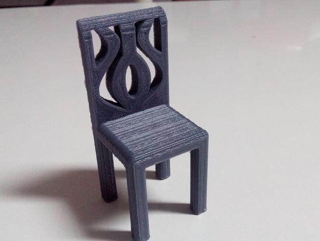 迷你椅子 3D模型  图3