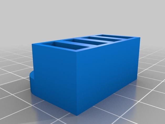 壁挂式USB盒 3D模型  图2