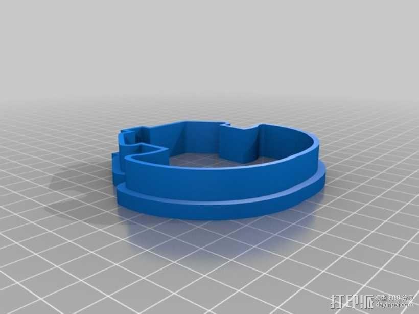 宗教风格饼干模具切割刀 3D模型  图2