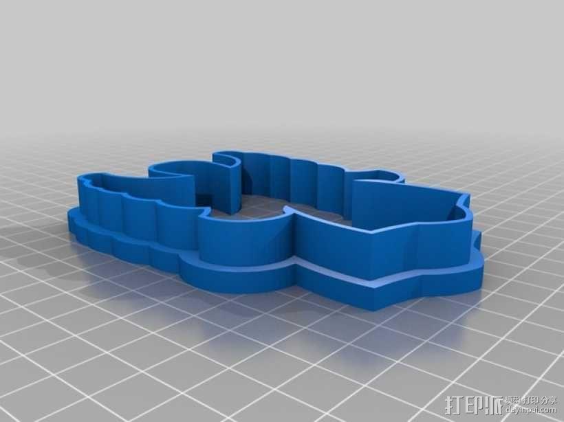 宗教风格饼干模具切割刀 3D模型  图3