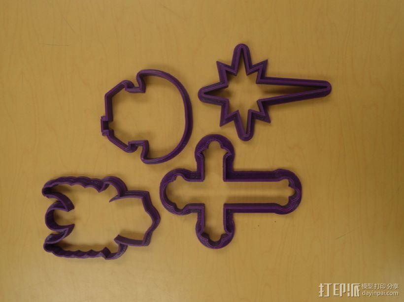 宗教风格饼干模具切割刀 3D模型  图9