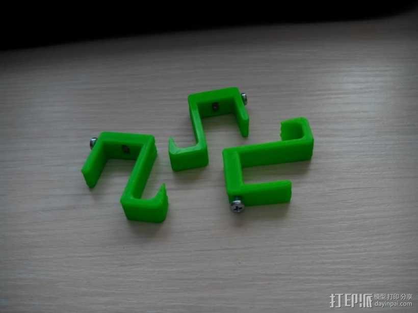 可扩展的电线挂钩 3D模型  图1