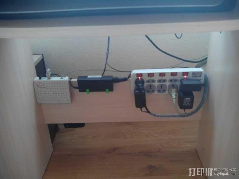 可扩展的电线挂钩 3D模型  图4