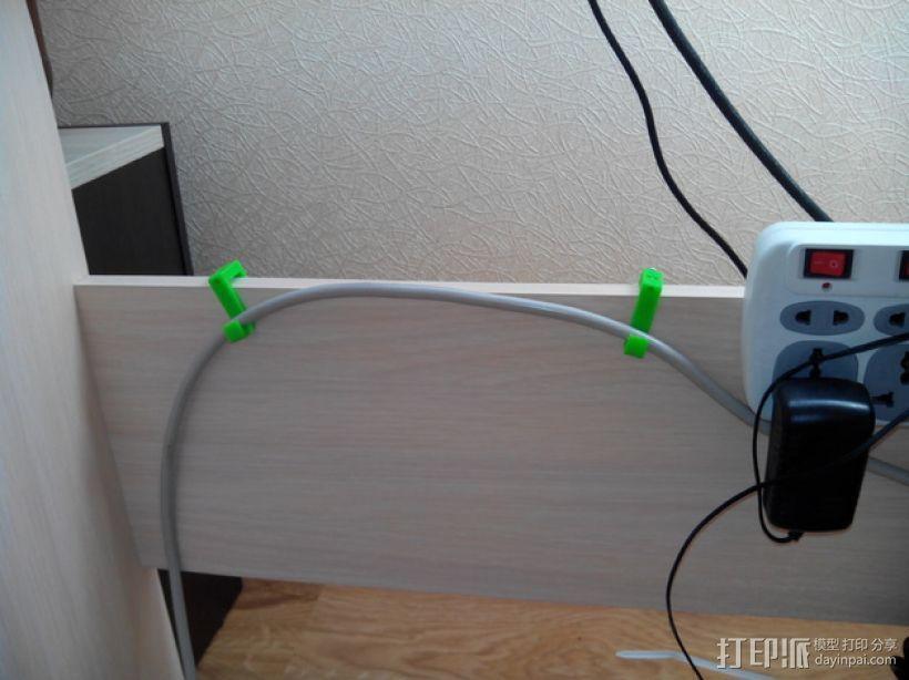 可扩展的电线挂钩 3D模型  图5