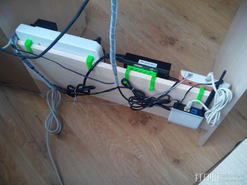 可扩展的电线挂钩 3D模型  图3