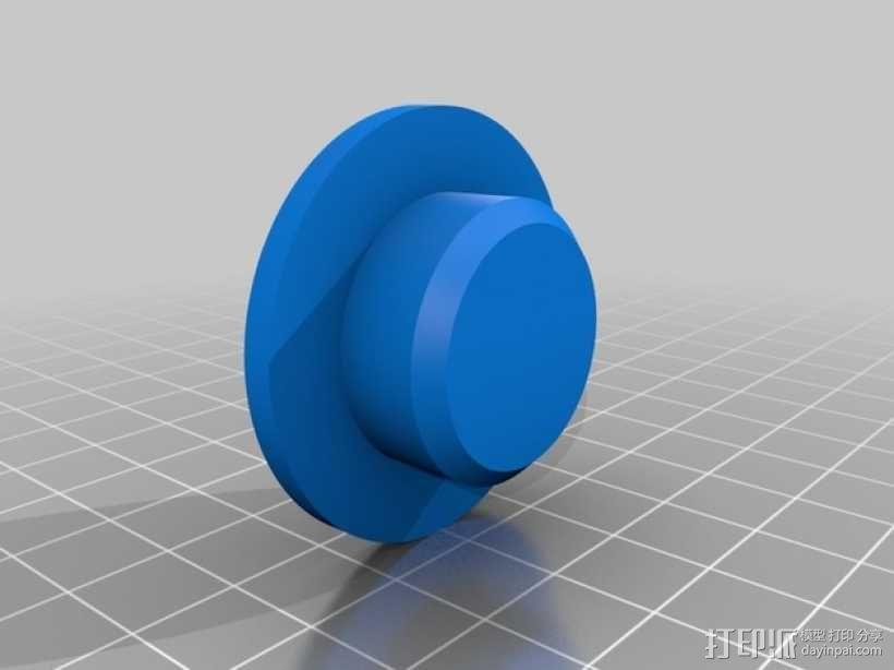 壁挂式扬声器固定架 3D模型  图3