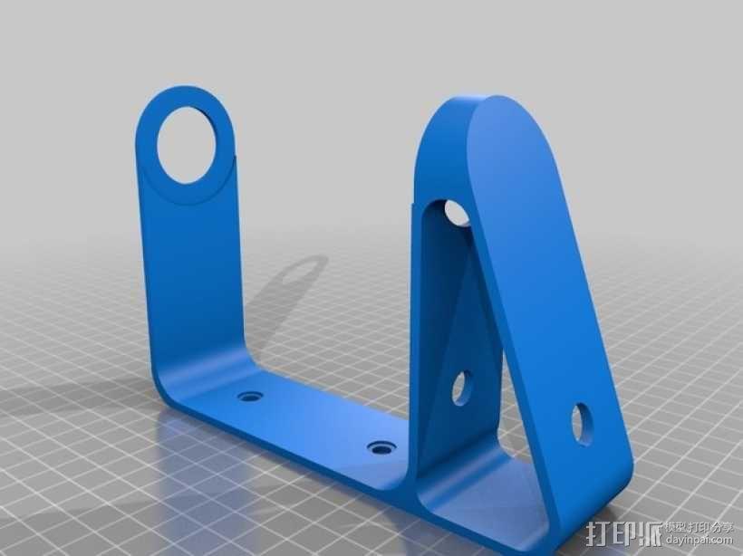 壁挂式扬声器固定架 3D模型  图4