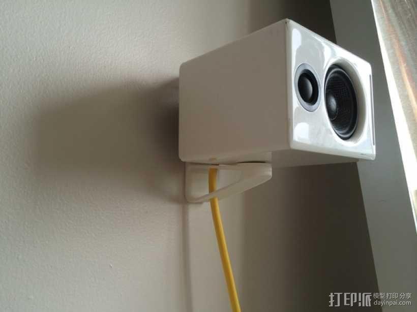 壁挂式扬声器固定架 3D模型  图5