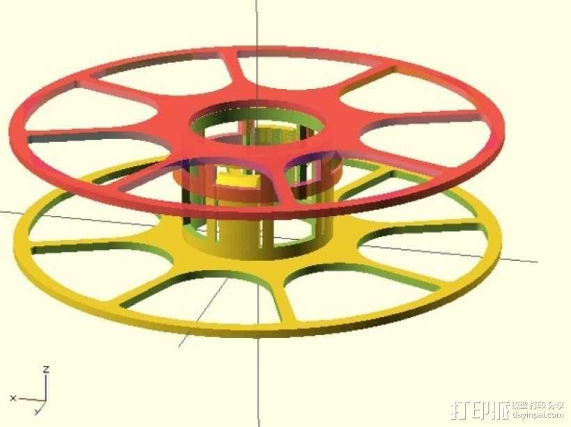 个性化线缆转轴 3D模型  图4