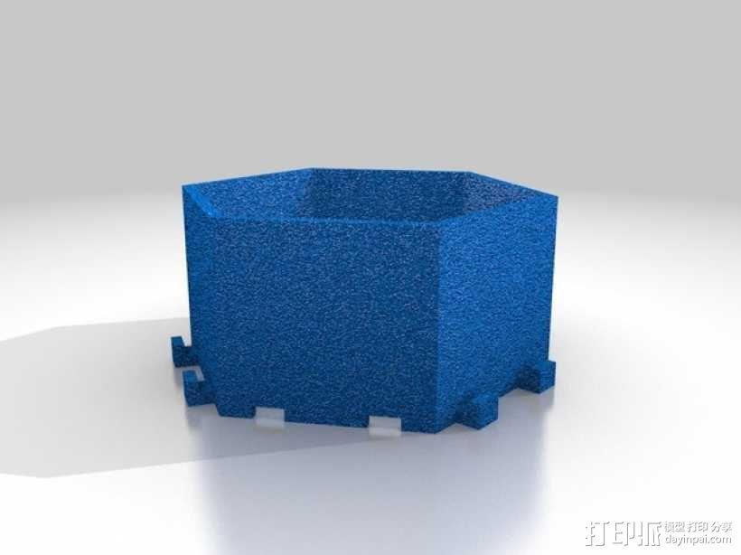 可堆叠的六边形小盒 3D模型  图3