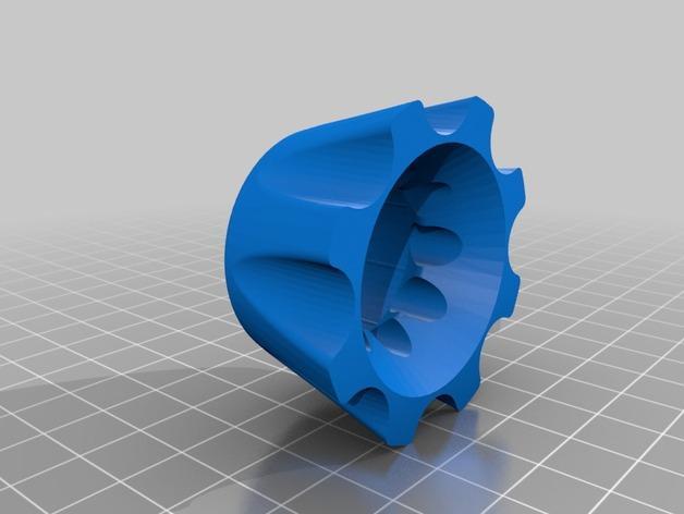 圆底试管站架 3D模型  图2