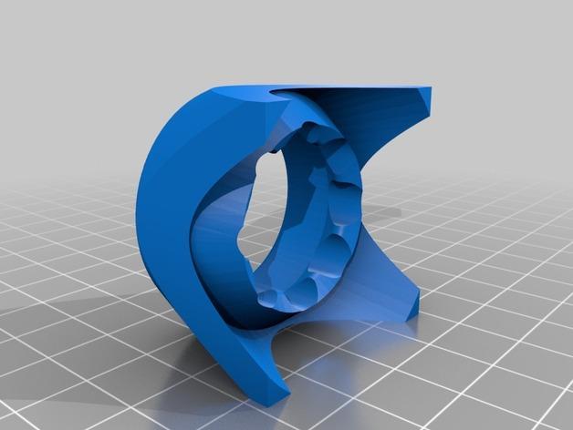 圆底试管站架 3D模型  图3