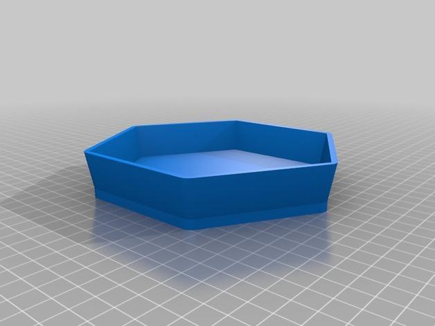 多边形花盆 3D模型  图2