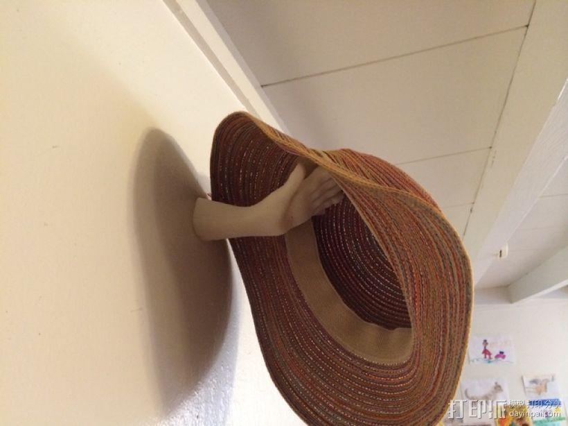 手型帽架 3D模型  图1