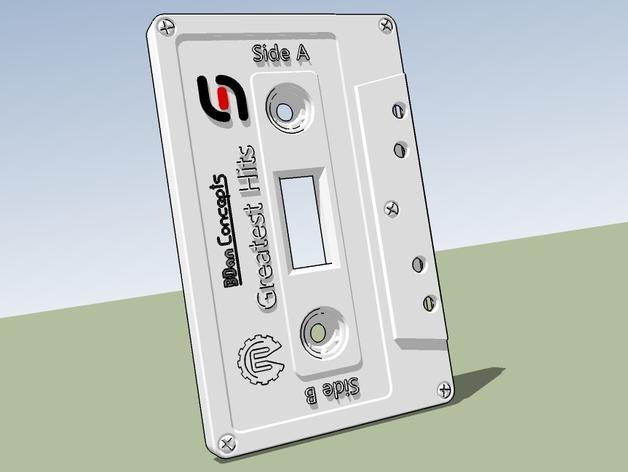 盒式磁带电源开关 3D模型  图1