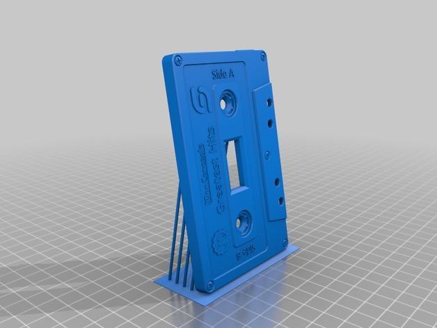 盒式磁带电源开关 3D模型  图4