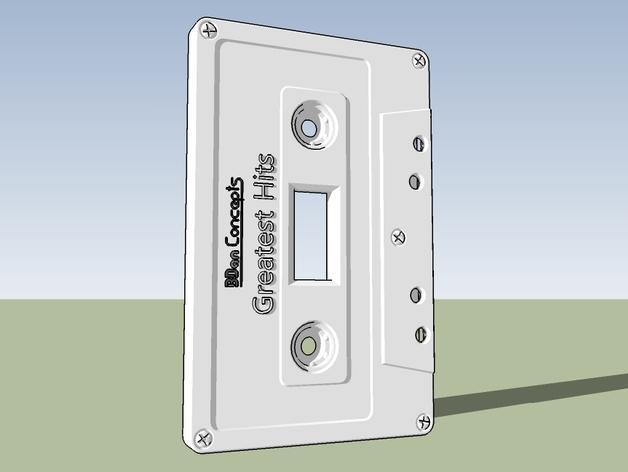 盒式磁带电源开关 3D模型  图5