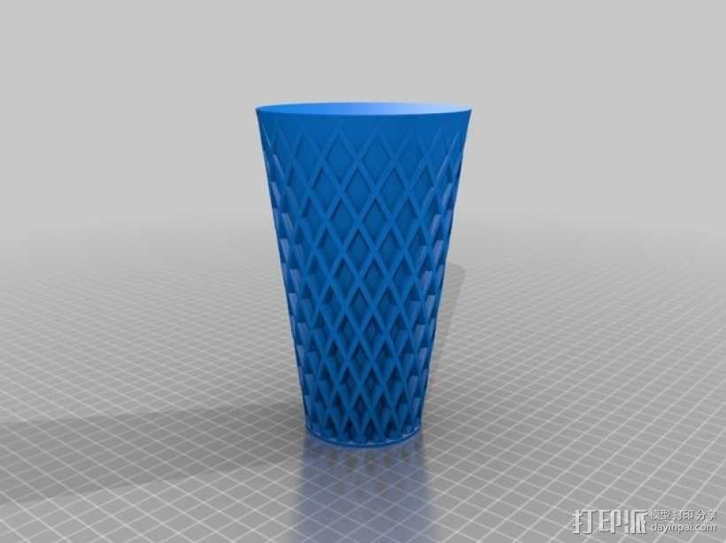 带有织纹感的花瓶/灯罩 3D模型  图2