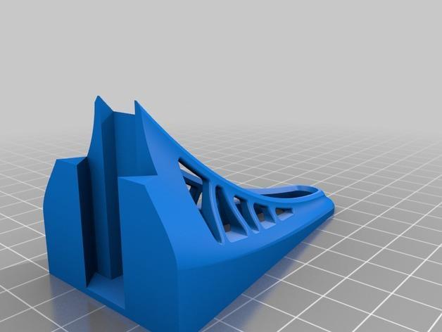 壁挂式搁板支架 3D模型  图2