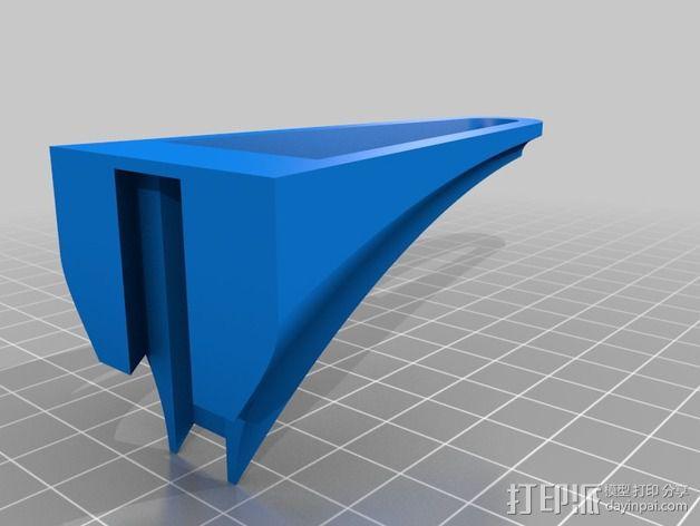 壁挂式搁板支架 3D模型  图4