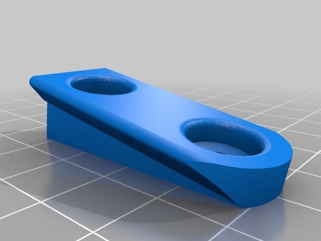 壁挂式搁板支架 3D模型  图3