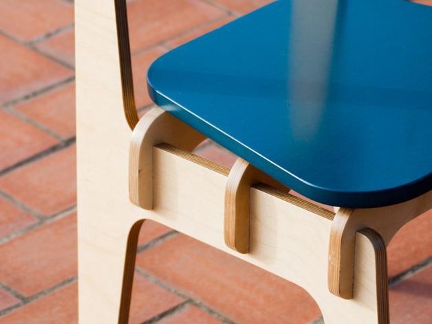 数控切割迷你椅子 3D模型  图3