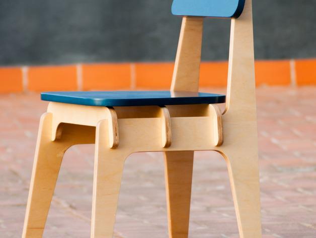 数控切割迷你椅子 3D模型  图4