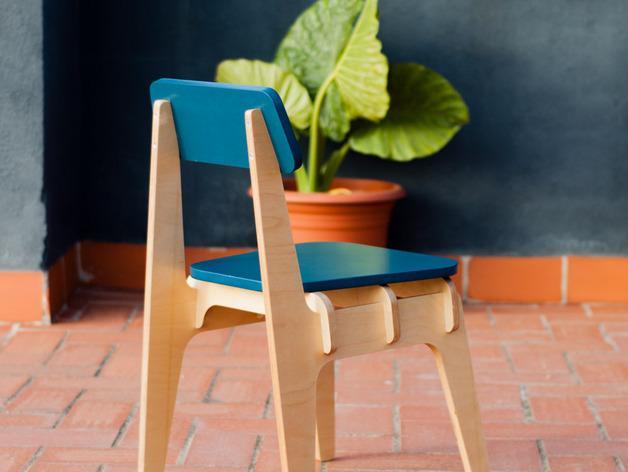 数控切割迷你椅子 3D模型  图2